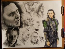 Loki: Sketch Sheet by GeeFreak