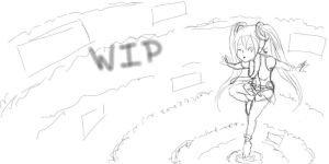Miku append wallpaper in progress by StacheRabbit