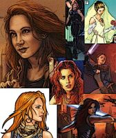Collage of Mara Jade by LadyIlona1984