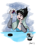 Disney Frozen Evil Elsa's Snow Globe without Title by ChiehChen