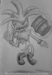 Daily Sketch 9-Silver the Hedgehog by TheAlienBanana