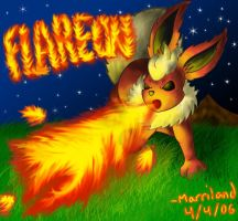 Flareon's Flamethrower by Marriland