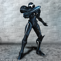 Super Smash Bros. for Wii U - Dark Samus by Sticklove