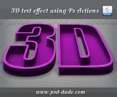 3D Text Effect in Photoshop by PsdDude