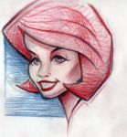 Red Head sketch by MJBivouac