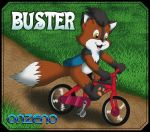 Buster rides a bike by Onzeno