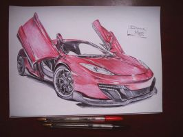 McLaren P1 drawing by staceyElmoro