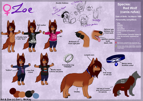 Main Fursona: Zoe Ref. Sheet .:2014:. by XxAnthro16xX