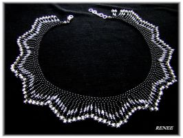 Black and silver collar by jasmin7