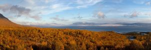 Abisko Morning Pano by CalleHoglund