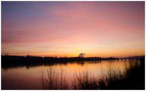 Sunrise over the Loire by vogesen