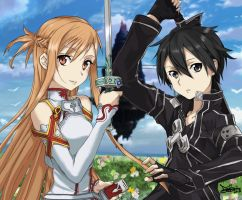 Kirito-and-Asuna-HD by Deanoid