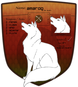 Amaroq the Silent- RP Profile by Kionji