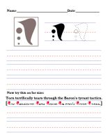 Precursor Worksheet - T by DrinkTeaOrDie