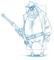 Marshal Rooster Cogburn by KingOlie