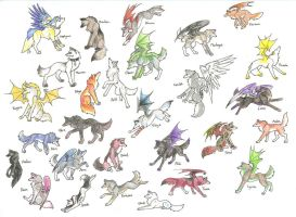 My Many Wolves by CaptainMorwen