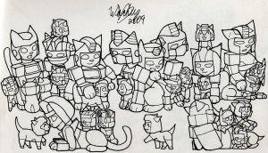Transformer Kitties 1 by wachey