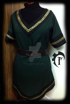 Women green viking tunic by Feral-Workshop