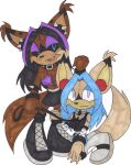 Nega Robecca and Robecca by C8LIN-The-Hedgie