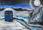 TARDIS In Ice at Christmas by Mazzi294