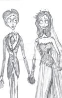 Corpse Bride-Emily and Victor by RBaileyx