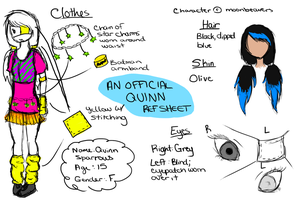 An Official-ish Quinn Reference Sheet by moonkuu