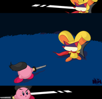Samurai vs. Ninja by pikmin789