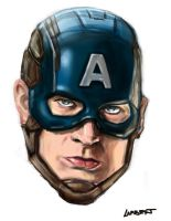 Captain America Head by AtelierLambert