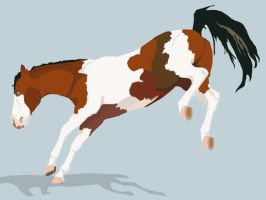 Bucking paint vector by BloodStainedSilk