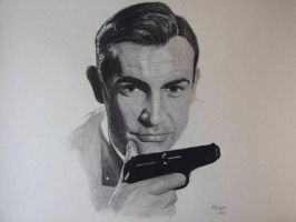 James Bond - Sean Connery by AndrewFisherArt
