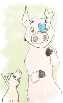 Two little pigs by Jhouchin2