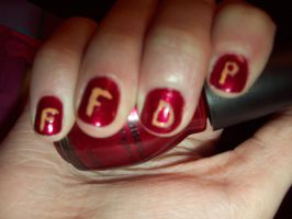 Five Finger Death Punch Nails by ffishy21