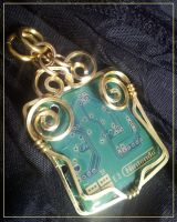 Nintendo DS Circuit Pendant by BacktoEarthCreations