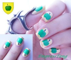 A Green Apple on Gold 2 by EmpressTang