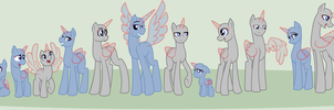 MLP Lineup Base by BookWormPony
