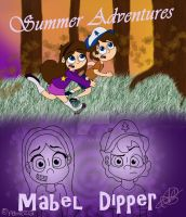 Mabel and Dipper - Summer Adventures by peblezQ