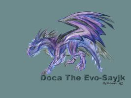 Doca in dragon form by AcidKreature