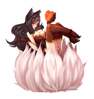 Firefox Ahri by Rush--it