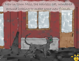 Milo the Hairless Cat Pg1 by ThrowingShadows