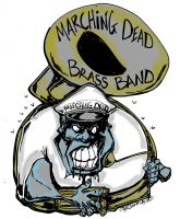 Marching Dead brass band by sketchoo