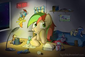 Late night work by Kiyoshiii