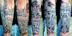 Viking sleeve project by gettattoo