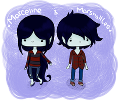 AT: Marceline and Marshall Lee by Jhordee