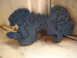 Foo Dog barrette- ash blue by missmonster