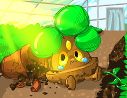Bonsly in the Greenhouse by DJ-Catsume