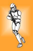 Clonetrooper on the hunt. by mpcp13
