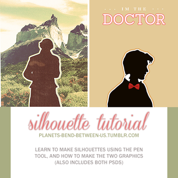 creating silhouettes with the pen tool + psds by planetsbend05