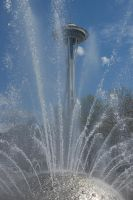 Space Needle and Fountain by Bspacewiz2
