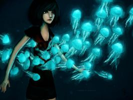 Blue Jellies by camibee