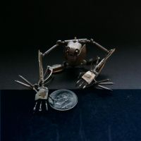 Winder (articulated watch parts creature) by AMechanicalMind
